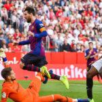 Liga Santander Barcelona con un triplete de Messi golea 4-2 al Sevilla