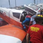 Piloto herido dejó aterrizaje de emergencia avioneta en Surco ( VIDEO)