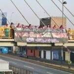 Día de la Mujer: ANP realiza banderolazo pidiendo medios libres de violencia