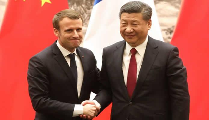 Presidente de China comienza su agenda oficial en Francia
