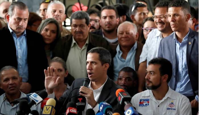 Guaidó anuncia un paro escalonado de empleados públicos venezolanos