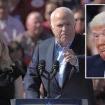 Trump ataca al senador fallecido John McCain pero su hija le responde magistralmente