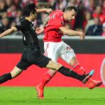 Liga Europa: Benfica en partido de ida de cuartos gana4-2 al Eintrancht de Frankfurt
