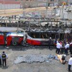 Sancionan por 90 días a empresa cuyo bus se incendió en Fiori