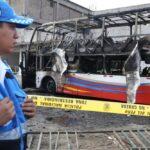Bomberos confirman 17 muertos y 7 heridos en incendio de bus