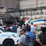 Fiori: Dos heridos por incendio en exterminal Fiori en estado grave