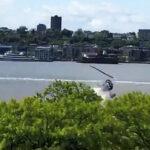 Preciso momento en el que helicóptero se estrella en el río Hudson (Videos)