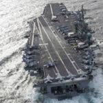 PortaavionesUSS Abraham Lincoln se acerca a Golfo Pérsico que Irán amenaza bloquear