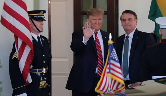Trump desea como aliado de la OTAN a Brasil