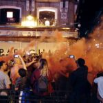 Champions: Arrestan a 14 personas por causas desordenes y protagonizar peleas