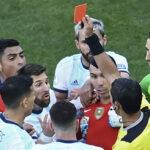 Lio Messi suspendido por un partido y 1,500 dólares por expulsión en Copa América
