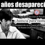 ¡Justicia para Jaime Ayala! Periodista fue desaparecido en cuartel de la Marina en 1984