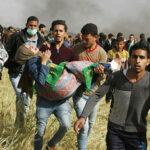 Al menos 110 palestinos heridos por militares israelíes en Gaza