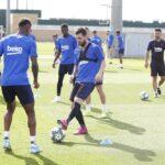 Barcelona: Lionel Messi vuelve a entrenarse con el grupo