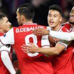 Europa League: Arsenal vapuleó a Standard de Lieja 4-0 por el Grupo F
