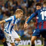 Liga Santander: Levante despierta del sueño de pelear por el liderato a la Real Sociedad (2-1)