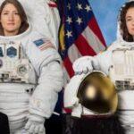 Dos astronautas listas para primer paseo espacial exclusivamente femenino