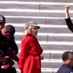 Jane Fonda fue arrestada mientras protestaba contra el cambio climático (video)