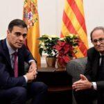 Presidente de Cataluña exige diálogo sin condiciones a Pedro Sánchez