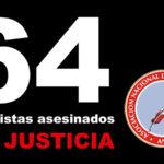 Asociación Nacional de Periodistas del Perú: 64 periodistas asesinados esperan justicia