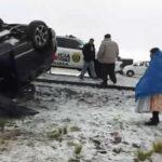 Tres jugadores del Binacional sufren aparatoso accidente en Juliaca (VIDEO)