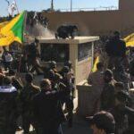Centenares de manifestantes rodean y asaltan la embajada de EEUU en Bagdad