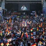 Morales aboga en masivo acto en Argentina por vuelta del MAS al gobierno