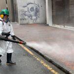 Coronavirus: Municipalidad de Lima desinfectó avenidas Tacna y Emancipación