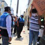 Fiscalización interviene a ambulantes que vendían mascarillas, guantes y alcohol
