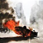 George Floyd: Incendian patrulleros durante protestas en Filadelfia (Videos)