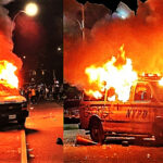 Manifestantes incendian patrullero e intentan ingresar a comisaría en Nueva York (Videos)