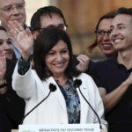 La socialista Anne Hidalgo proclama su victoria en París