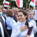 """Tijanovskaya dice que alguien con 80 % de votos no necesita """"usar armas"""""""