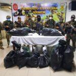 Vraem: Fuerzas del orden incautan 250 kilos de clorhidrato de cocaína