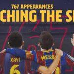 Messi iguala a Xavi como jugador del Barcelona con más partidos: 767