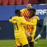 LaLiga: Barcelona vence al Osasuna 2 a 0 y mete presión