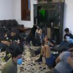 Policía investiga lazos con sicarios de más de 60 detenidos en fiesta (VIDEO)