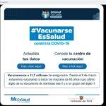 EsSalud: Asegurados pueden actualizar sus datos para vacuna