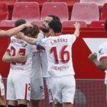 LaLiga: El Sevilla no se rinde en la pelea por el título al vencer al Granada 2-1