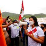 Fujimori dice estar dispuesta a debatir con Castillo en puerta del penal de Santa Mónica