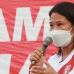 "Keiko Fujimori encabezó mitin de protesta y pidió ""elección transparente"""