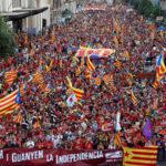 Más de 400.000 independentistas se reúnen en Barcelona por el Día Nacional de Cataluña