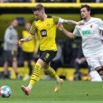 Bundesliga: Borussia Dortmund derrota al Augsburgo por 2-1 sin Haaland